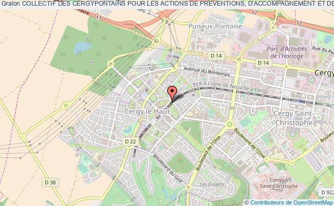 plan association Collectif Des Cergypontains Pour Les Actions De Preventions, D'accompagnement Et De Mediation Cergy