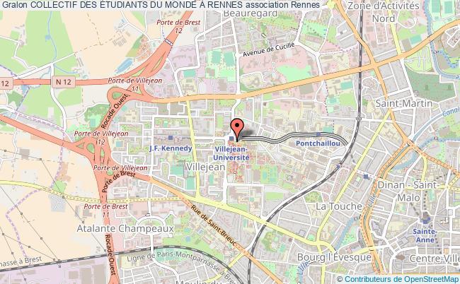 plan association Collectif Des Étudiants Du Monde À Rennes