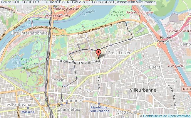 plan association Collectif Des Etudiants Senegalais De Lyon (cesel)