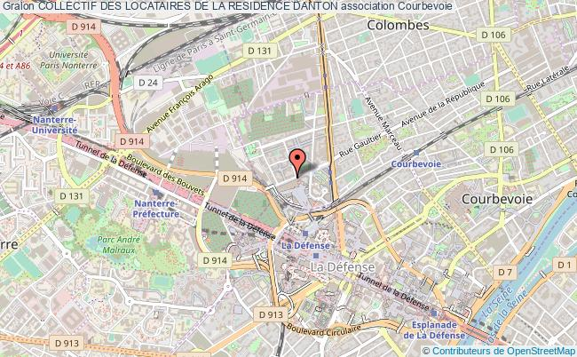 plan association Collectif Des Locataires De La Residence Danton Courbevoie