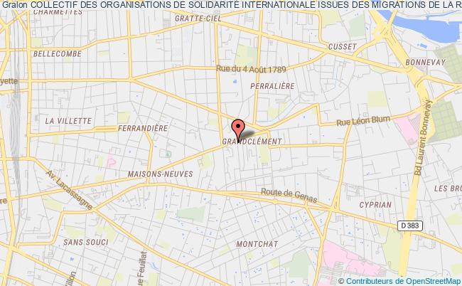 plan association Collectif Des Organisations De SolidaritÉ Internationale Issues Des Migrations De La RÉgion Auvergne RhÔne Alpes