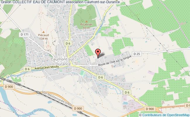 plan association Collectif Eau De Caumont