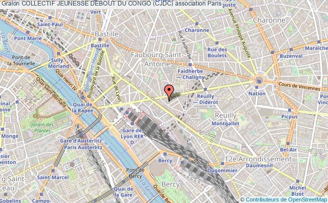 plan association Collectif Jeunesse Debout Du Congo (cjdc) Paris