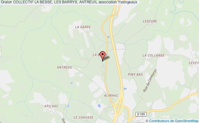 plan association Collectif La Besse, Les Barrys, Antreuil Yssingeaux