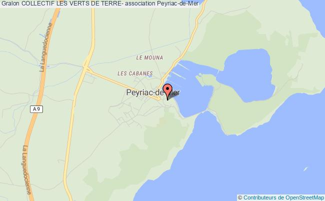 plan association Collectif Les Verts De Terre Peyriac-de-Mer