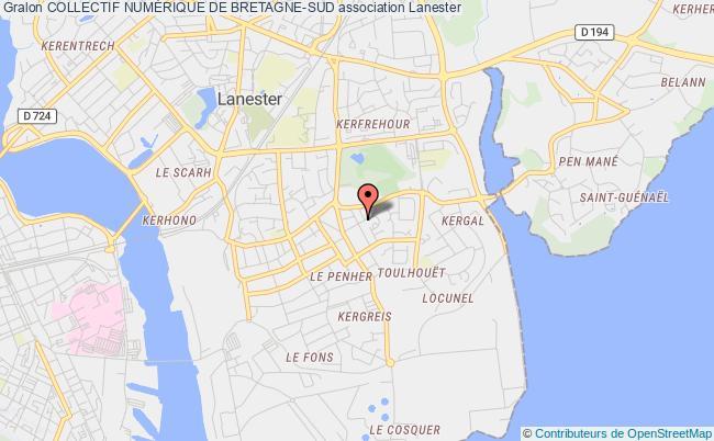 plan association Collectif NumÉrique De Bretagne-sud