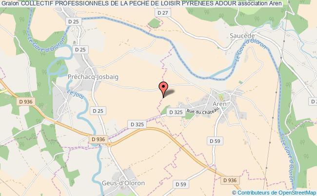 plan association Collectif Professionnels De La Peche De Loisir Pyrenees Adour