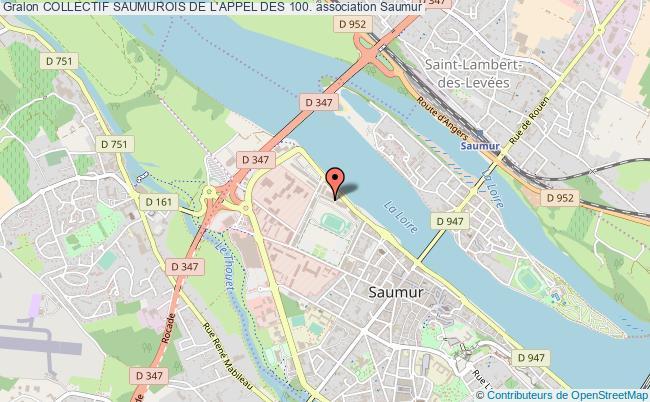 plan association Collectif Saumurois De L'appel Des 100.