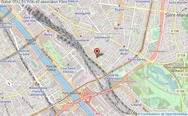 plan association Collection 82 Paris 12e