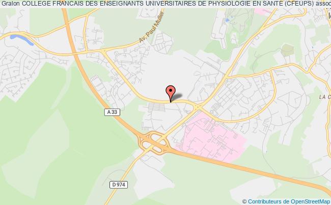 plan association College Francais Des Enseignants Universitaires De Physiologie En Sante (cfeups)