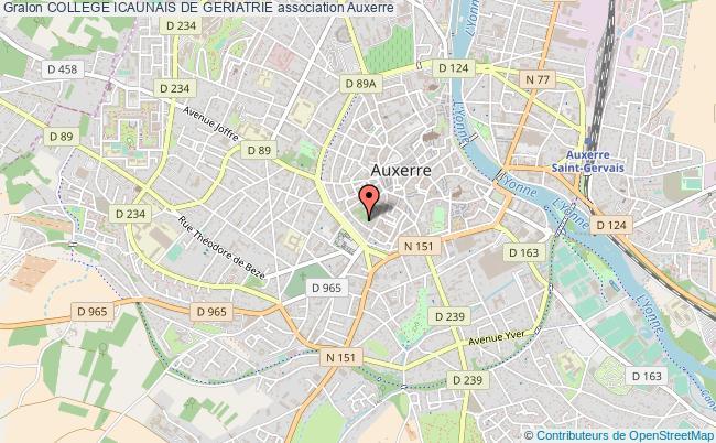 plan association College Icaunais De Geriatrie