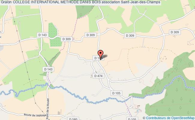 plan association College International Methode Danis Bois Saint-Jean-des-Champs