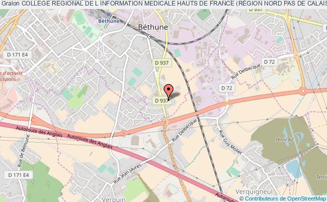 plan association College Regional De L Information Medicale Hauts De France (rÉgion Nord Pas De Calais Picardie)