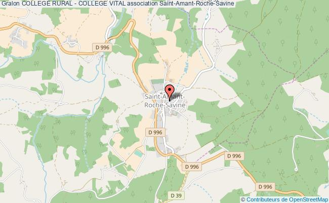 plan association College Rural - College Vital Saint-Amant-Roche-Savine