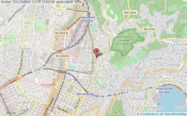 plan association Colombie Cote D'azur