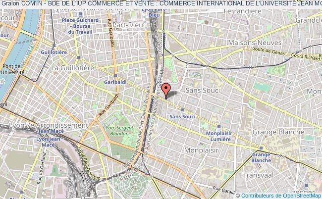 plan association Com'in - Bde De L'iup Commerce Et Vente : Commerce International De L'universite Jean Moulin Lyon 3 - Faculte Des Langues