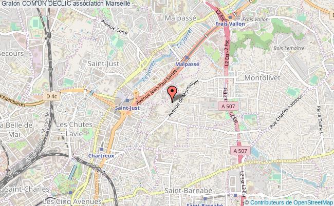 plan association Com'un Declic Marseille 12e