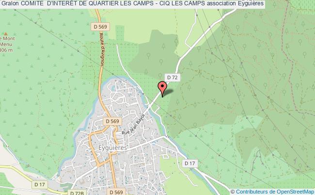 plan association Comite  D'interÊt De Quartier Les Camps - Ciq Les Camps