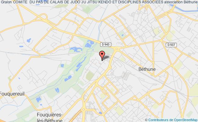 plan association Comite  Du Pas De Calais De Judo Ju Jitsu Kendo Et Disciplines Associees