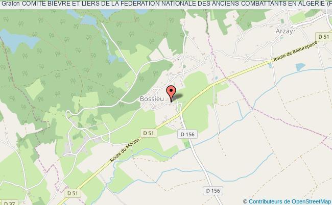 plan association Comite Bievre Et Liers De La Federation Nationale Des Anciens Combattants En Algerie (fnaca) Bossieu