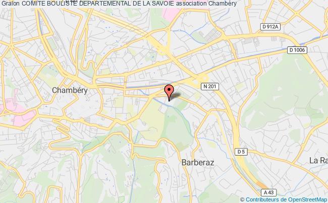 plan association Comite Bouliste Departemental De La Savoie
