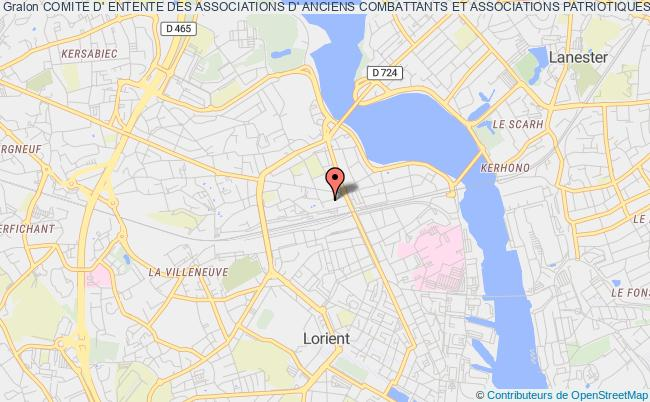 plan association Comite D' Entente Des Associations D' Anciens Combattants Et Associations Patriotiques De Lorient