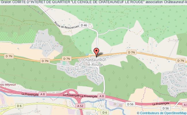"""plan association Comite D''interet De Quartier """"le Cengle De Chateauneuf Le Rouge"""""""