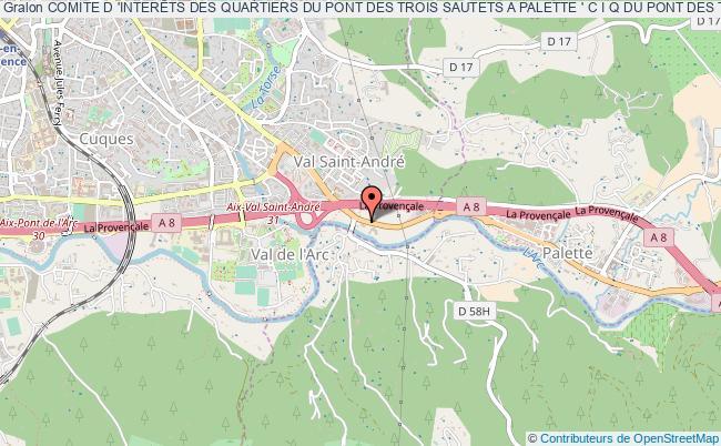 plan association Comite D 'interÊts Des Quartiers Du Pont Des Trois Sautets A Palette ' C I Q Du Pont Des Trois Sautets A Palette'