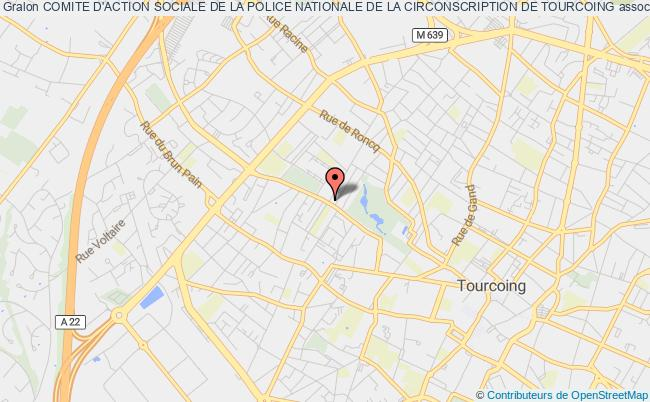 plan association Comite D'action Sociale De La Police Nationale De La Circonscription De Tourcoing Tourcoing