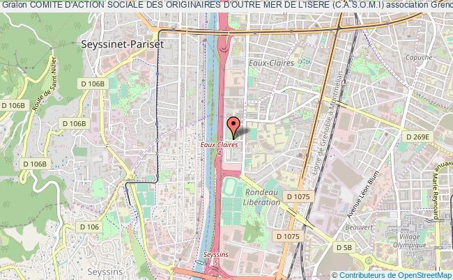 plan association Comite D'action Sociale Des Originaires D'outre Mer De L'isere (c.a.s.o.m.i) Grenoble