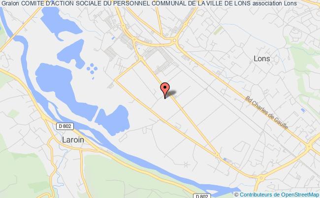 plan association Comite D'action Sociale Du Personnel Communal De La Ville De Lons