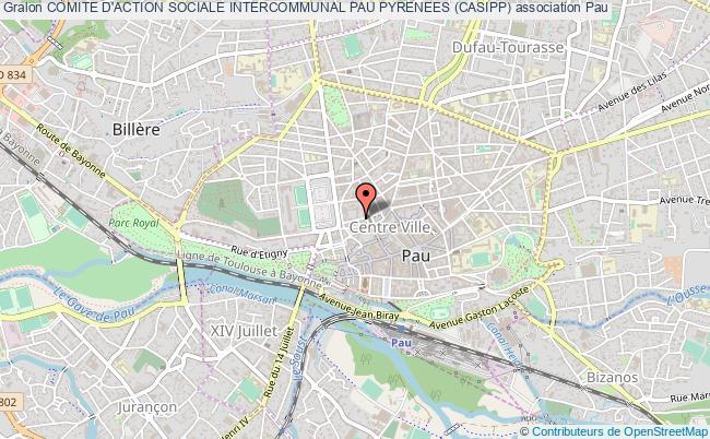 plan association Comite D'action Sociale Intercommunal Pau Pyrenees (casipp)