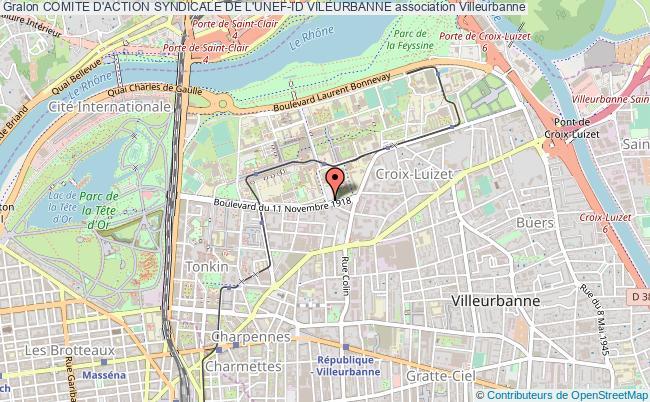 plan association Comite D'action Syndicale De L'unef-id Vileurbanne