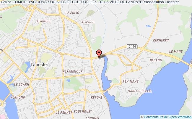 plan association Comite D'actions Sociales Et Culturelles De La Ville De Lanester