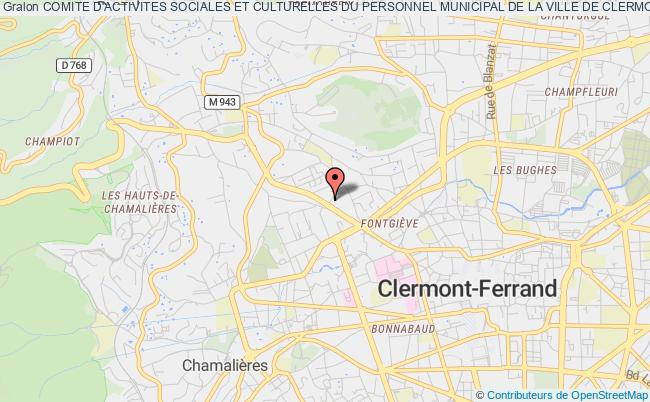 plan association Comite D'activites Sociales Et Culturelles Du Personnel Municipal De La Ville De Clermont-fd Et Du Centre Communal D'action Sociale (casc)