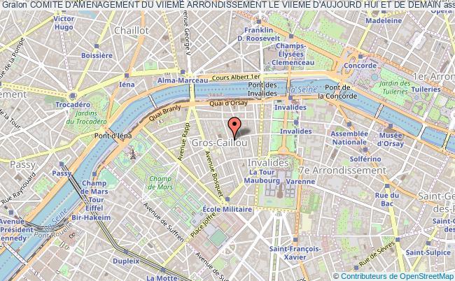 plan association Comite D'amenagement Du Viieme Arrondissement Le Viieme D'aujourd Hui Et De Demain