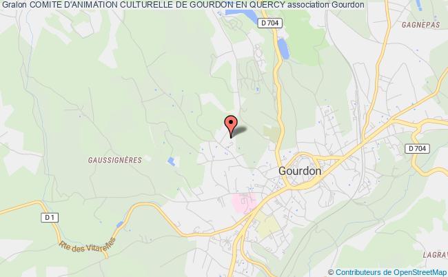 plan association Comite D'animation Culturelle De Gourdon En Quercy