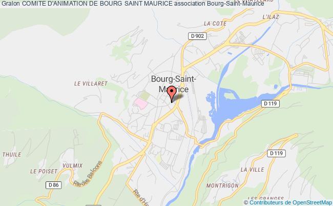 plan association Comite D'animation De Bourg Saint Maurice