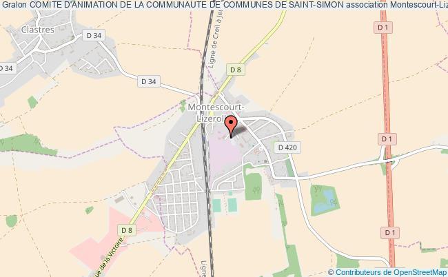 plan association Comite D'animation De La Communaute De Communes De Saint-simon