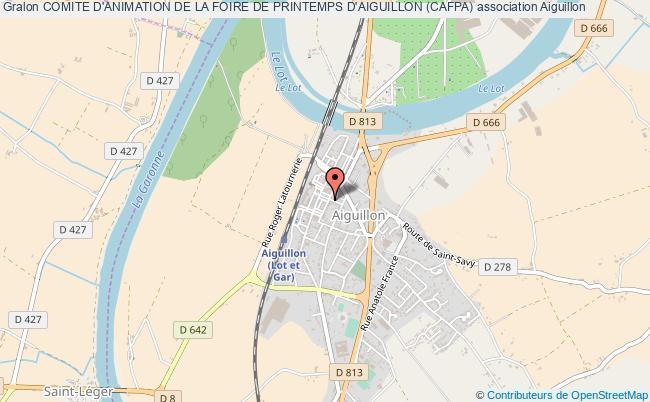 plan association Comite D'animation De La Foire De Printemps D'aiguillon (cafpa)