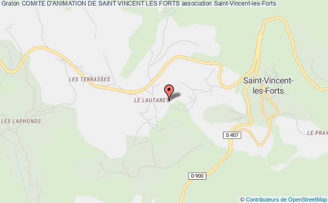 plan association Comite D'animation De Saint Vincent Les Forts Saint-Vincent-les-Forts