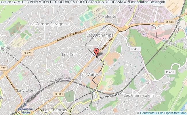 plan association Comite D'animation Des Oeuvres Protestantes De Besancon Besançon