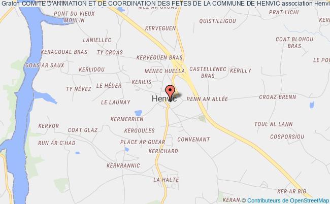 plan association Comite D'animation Et De Coordination Des Fetes De La Commune De Henvic Henvic