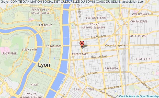 plan association Comite D'animation Sociale Et Culturelle Du Sdis Du Rhone  (casc)