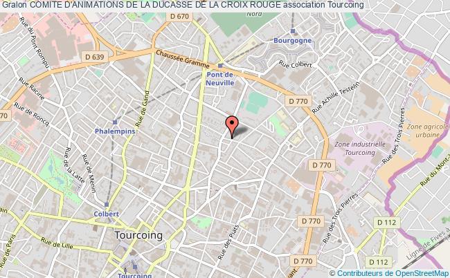 plan association Comite D'animations De La Ducasse De La Croix Rouge
