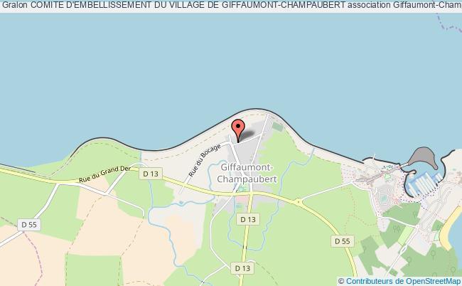 plan association Comite D'embellissement Du Village De Giffaumont-champaubert