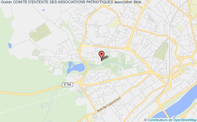 plan association Comite D'entente Des Associations Patriotiques Blois