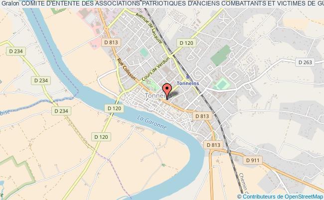 plan association Comite D'entente Des Associations Patriotiques D'anciens Combattants Et Victimes De Guerre Du Secteur De Tonneins