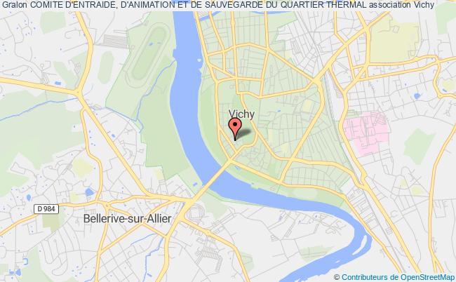 plan association Comite D'entraide, D'animation Et De Sauvegarde Du Quartier Thermal