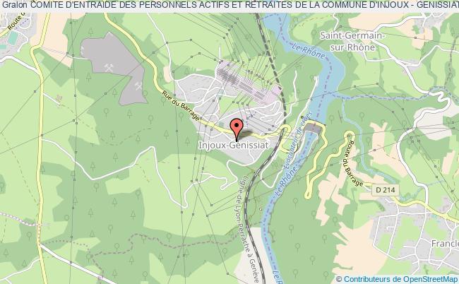 plan association Comite D'entraide Des Personnels Actifs Et Retraites De La Commune D'injoux - Genissiat' Injoux-Génissiat